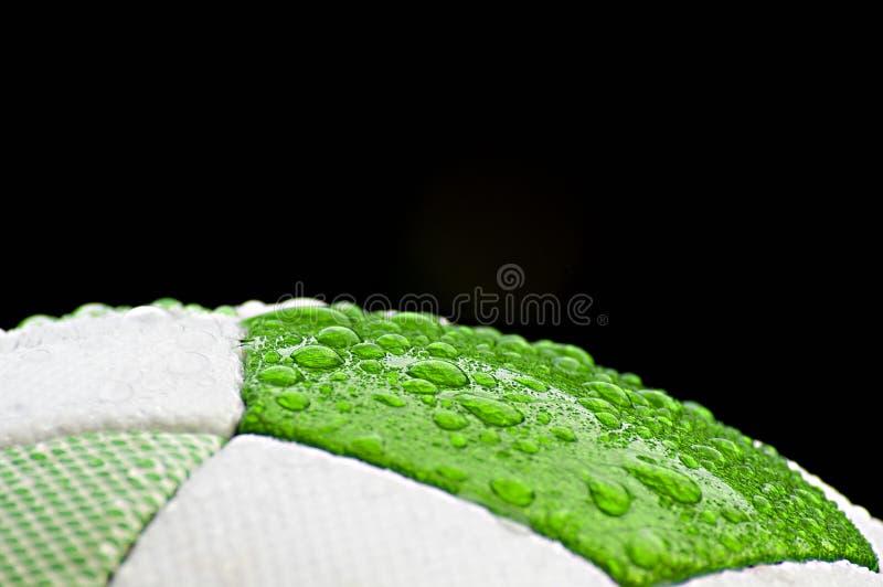 Fine della sfera di calcio in su fotografie stock libere da diritti