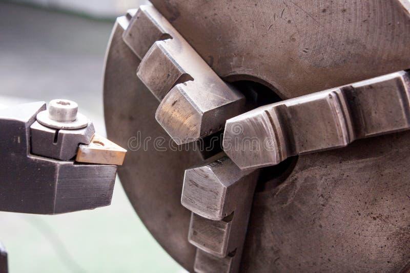 Fine della taglierina della perforatrice su fotografie stock