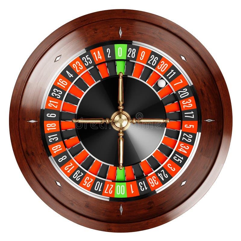 Fine delle roulette dell'oro del casinò su illustrazione di stock