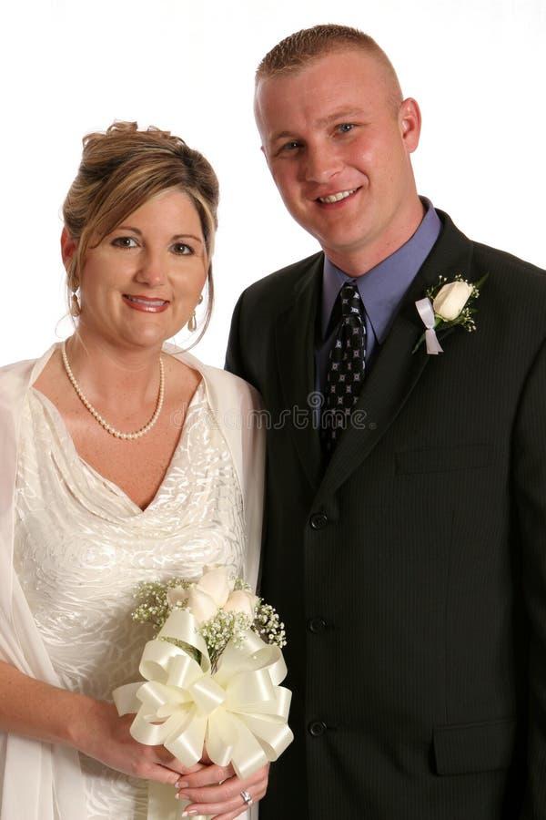 Fine dello sposo e della sposa immagine stock