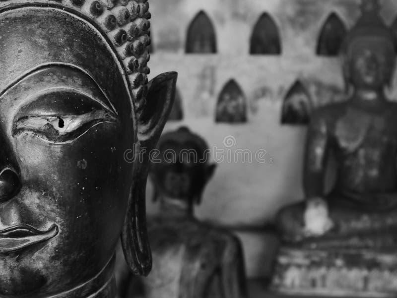 Fine di Buddha su a Wat Sisaket - Vientiane immagine stock