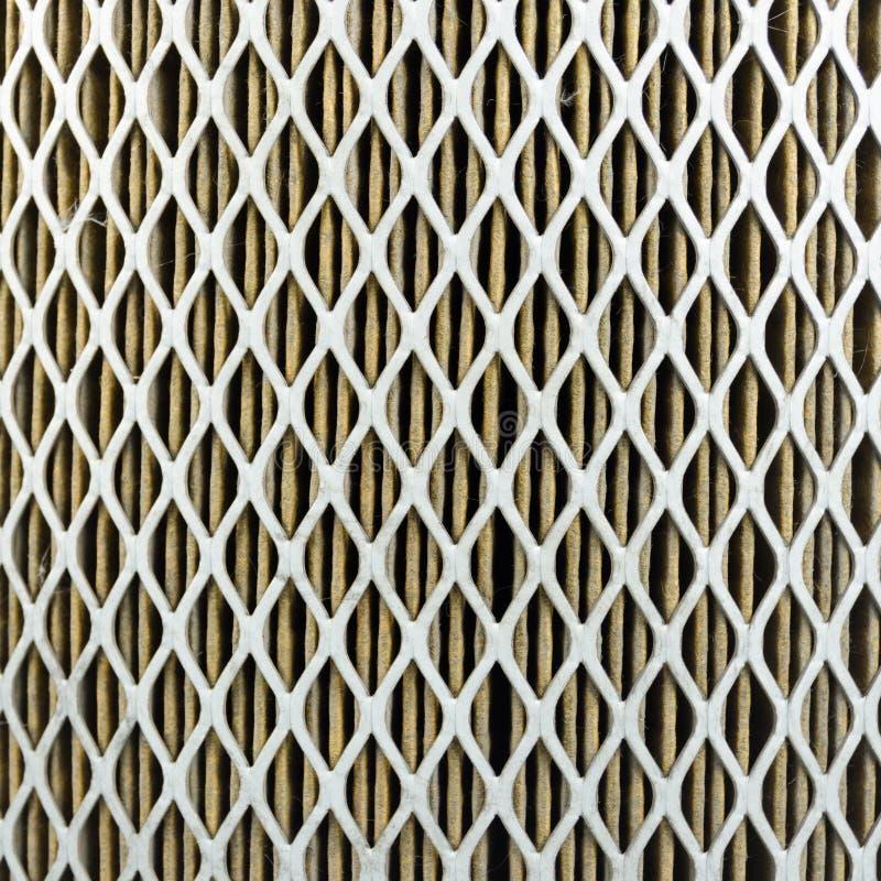 Fine di filtro dell'aria dell'automobile su fotografia stock