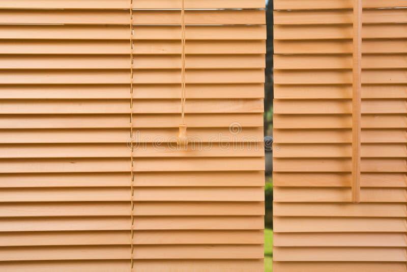 Fine di legno della gelosia in su fotografie stock libere da diritti