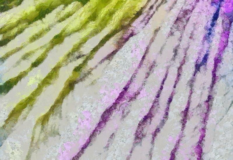 Fine di lerciume sul fondo della pittura a olio Modello di progettazione semplice Struttura tirata Modello grafico per la carta d royalty illustrazione gratis