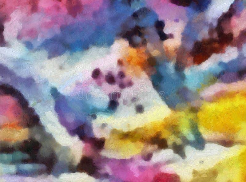 Fine di lerciume sul fondo della pittura a olio Modello di progettazione semplice Struttura tirata Modello grafico per la carta d illustrazione vettoriale