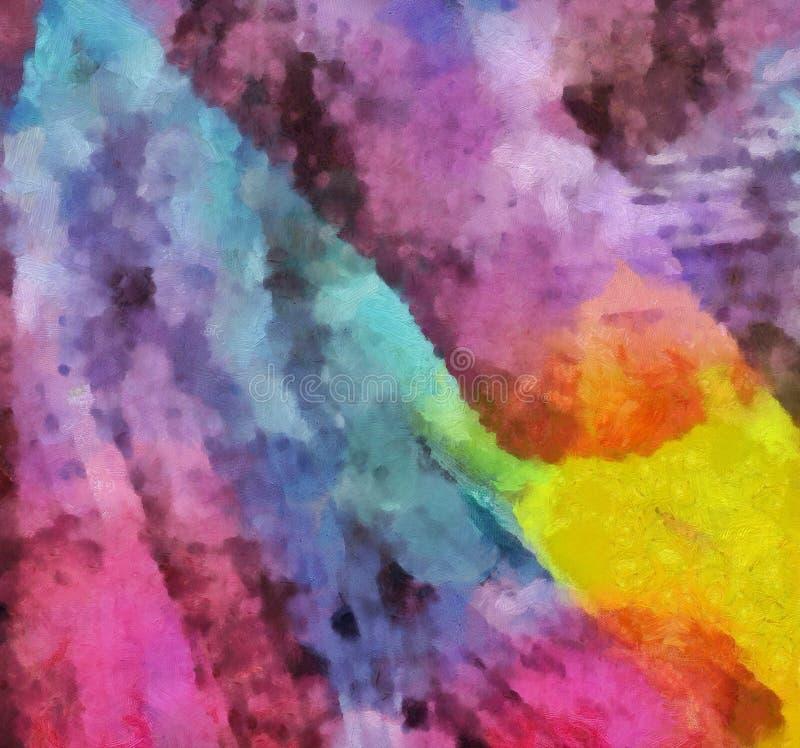 Fine di lerciume sul fondo della pittura a olio Modello di progettazione semplice Struttura tirata Modello grafico per la carta d illustrazione di stock