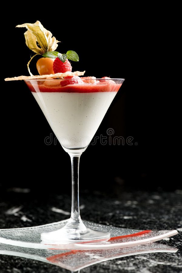 Download Fine Dining Dessert Cocktail With Fruit Toppings Stock Image - Image of fine, strawberry: 9014431