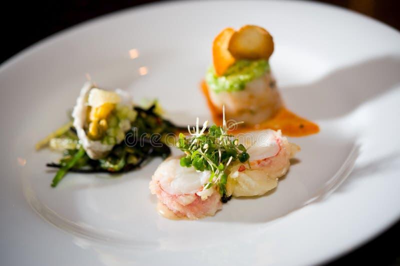 Fine dining sushi stock photos