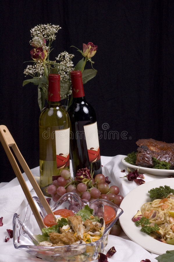 Fine dining vertical royalty free stock image