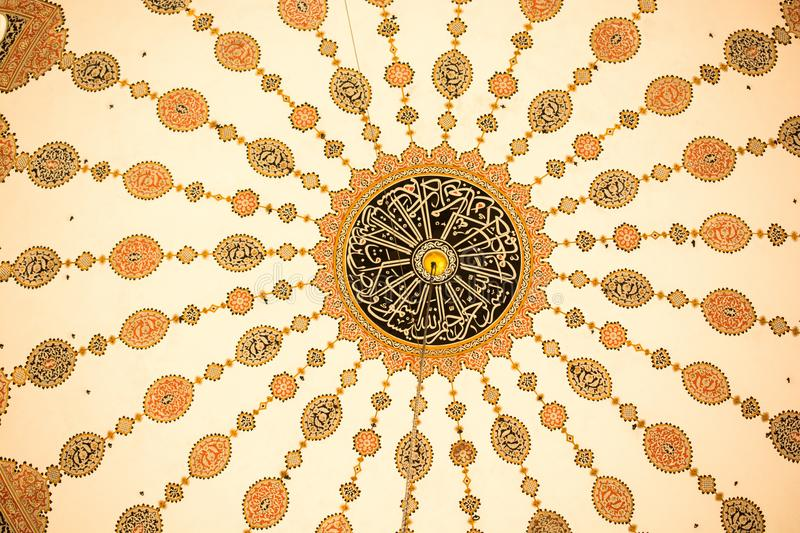 Example of Ottoman art patterns in view royalty free stock photos