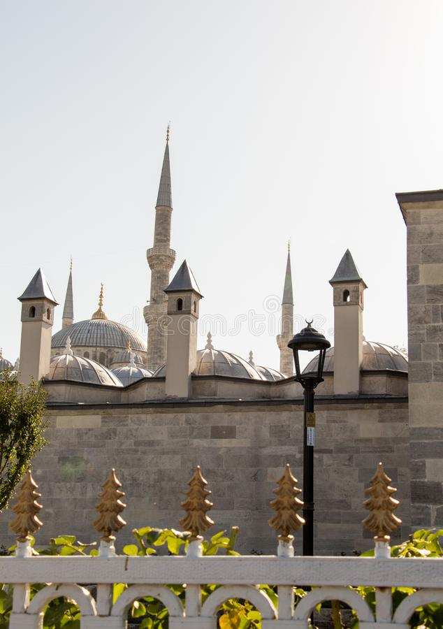 Fine example of ottoman Turkish architecture fragments royalty free stock image