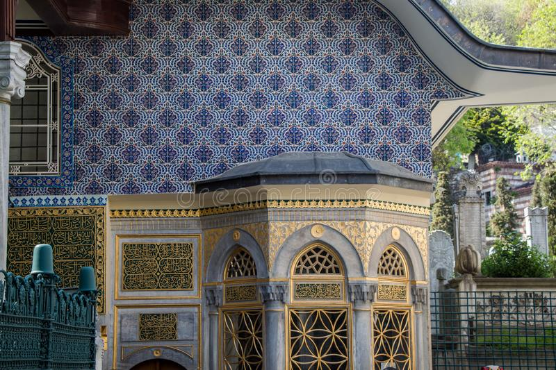 Fine example of ottoman Turkish architecture stock images
