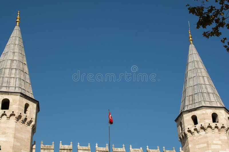 Fine example of ottoman Turkish tower architecture royalty free stock photo