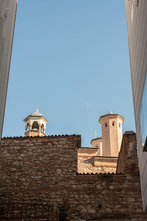 Fine example of ottoman Turkish tower architecture royalty free stock photos