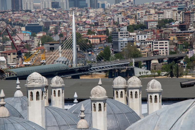 Fine example of ottoman Turkish tower architecture royalty free stock image