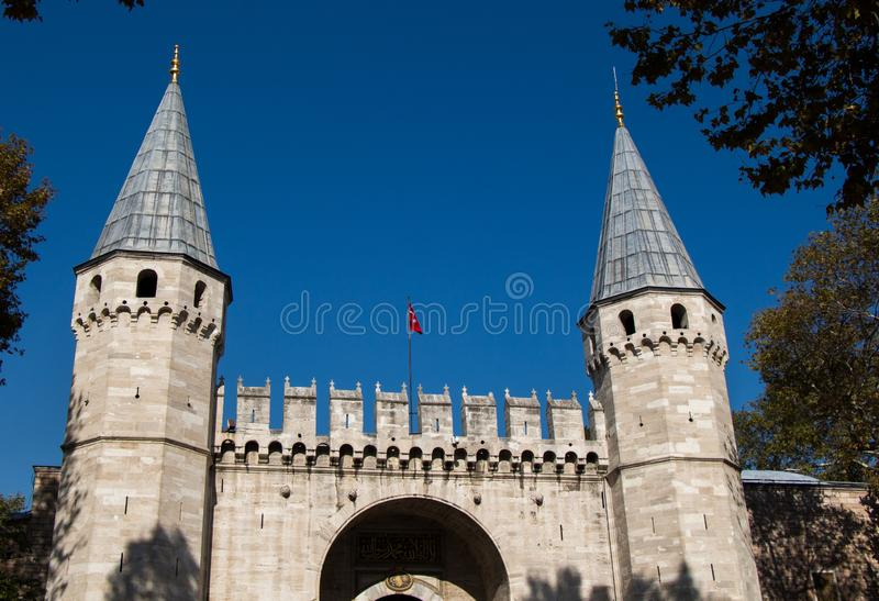 Fine example of ottoman Turkish tower architecture. Masterpieces royalty free stock photo