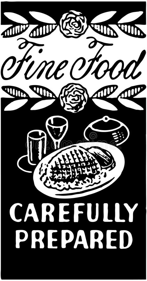 Fine Food Carefully Prepared 2 royalty free illustration