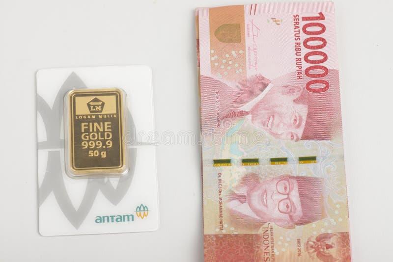 2018 Indonesia ANTAM Bullion Bar 3 gr FINE GOLD 999.9 certificate on packaging