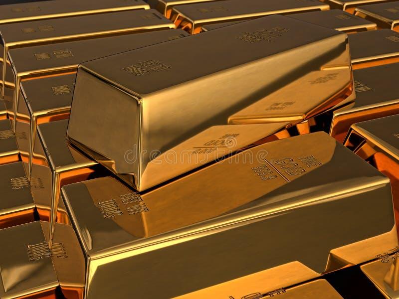 Fine Gold bars royalty free illustration