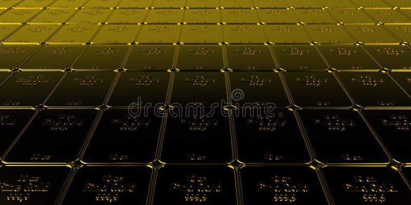 Fine Gold Bars 10 Oz vector illustration