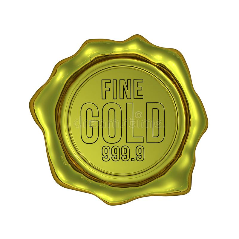 Download Fine Gold 999.9 - Isolated stock image. Illustration of realistic - 32121357