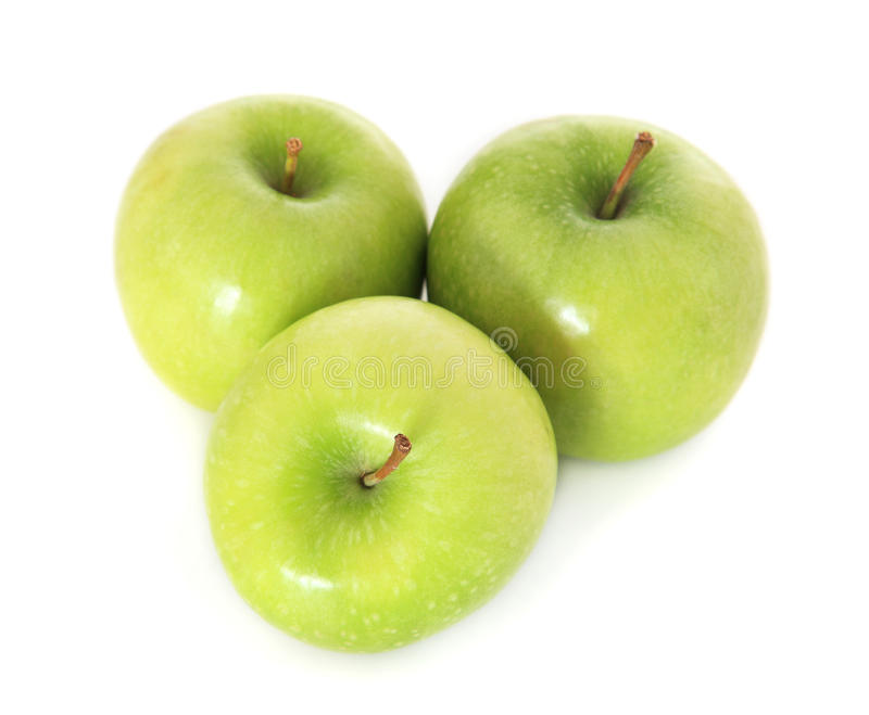 Fine Green Apples Stock Images