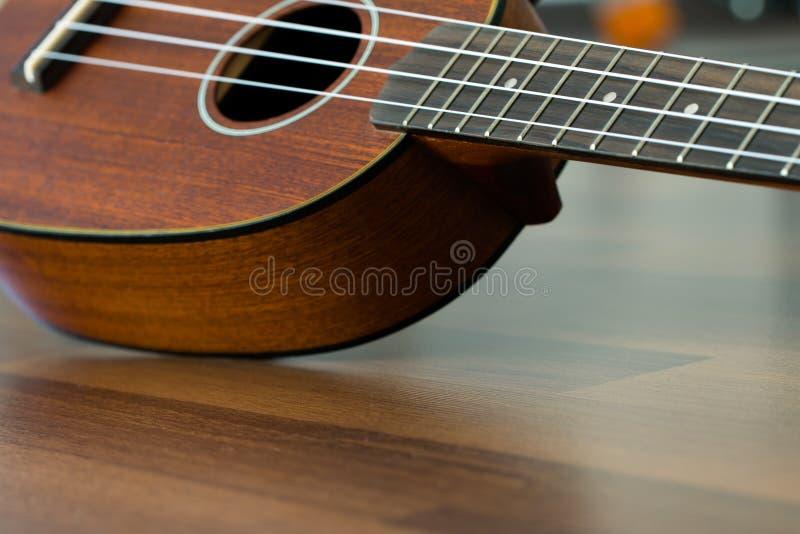 Fine hawaiana delle ukulele su fotografia stock libera da diritti