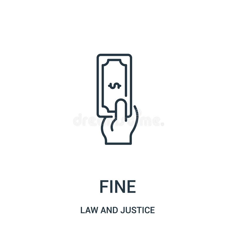 fine icon vector from law and justice collection. Thin line fine outline icon vector illustration. Linear symbol for use on web vector illustration