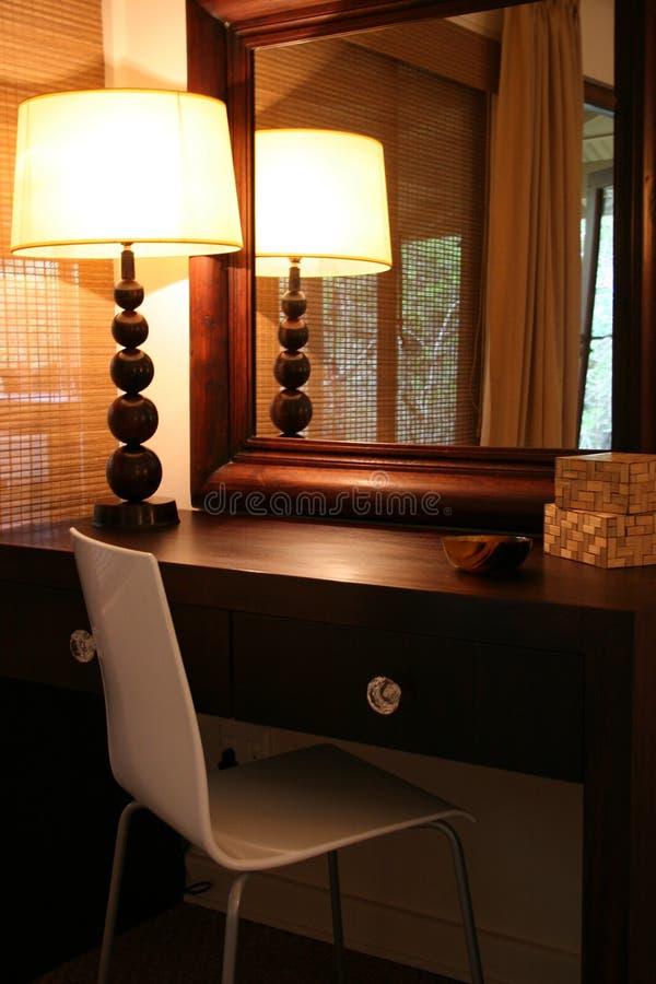 Fine interna africana moderna della camera da letto in su fotografie stock