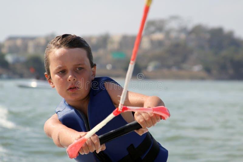 Fine massima di Wakeboarding in su immagine stock libera da diritti