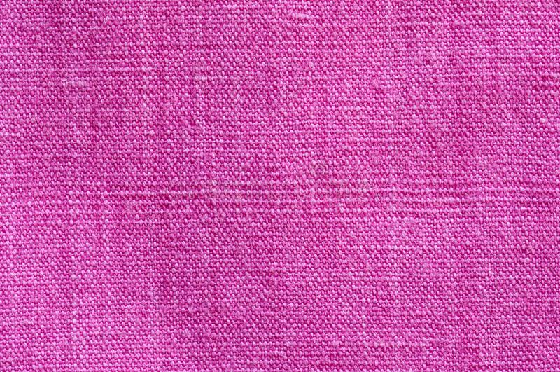 Fine pink colored linen stock photo