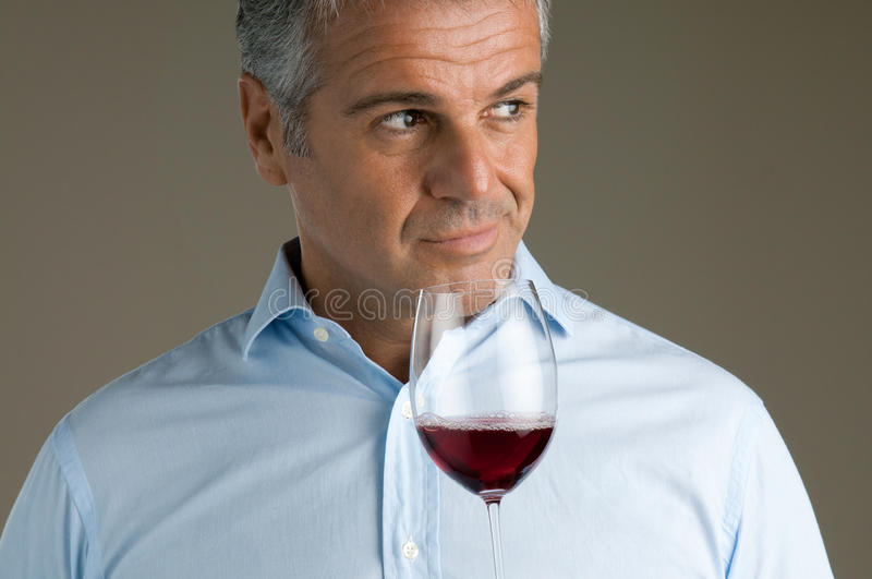 Fine Red Wine Glass Stock Photo