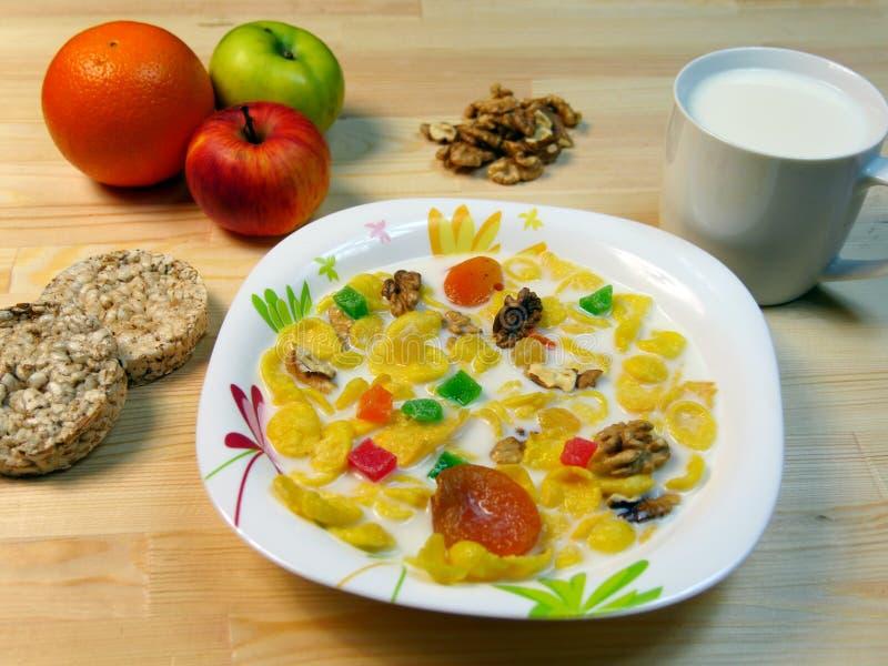 Fine sana della prima colazione di mattina su immagini stock libere da diritti