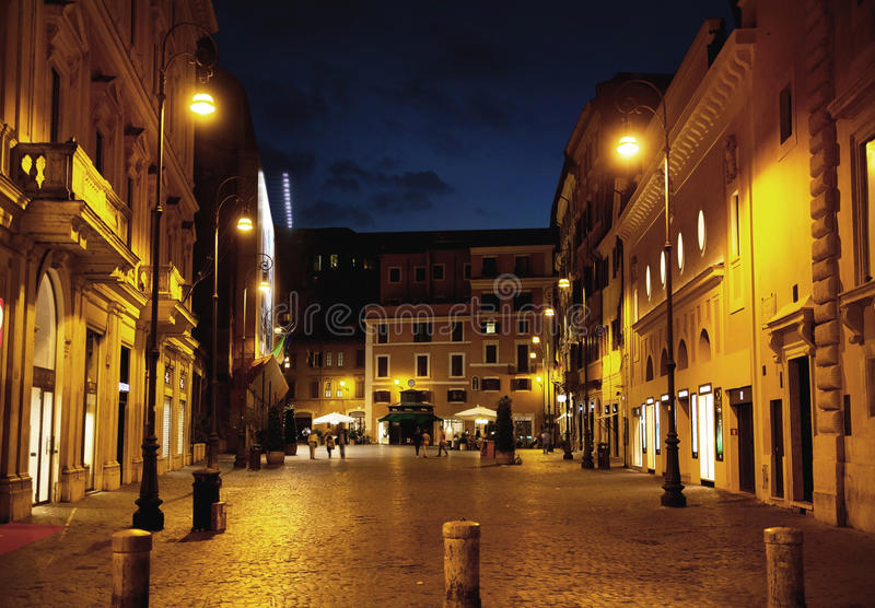 Fine shoot of street in the midnight stock image