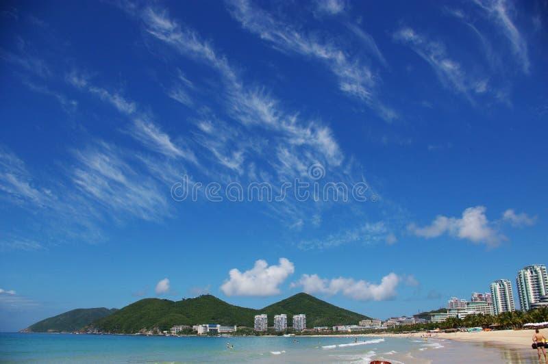 Download The Fine Sky at Seashore stock image. Image of sanya, hainan - 3985899