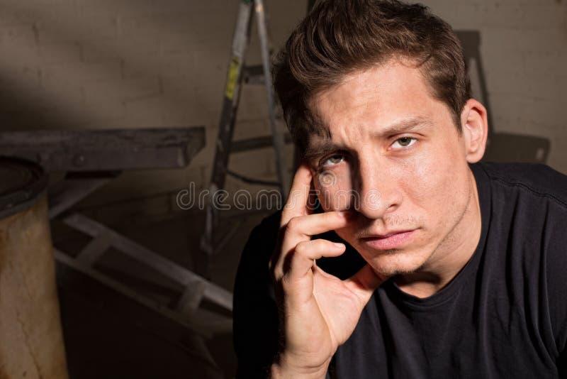 Download Fine stanca dell'uomo su immagine stock. Immagine di handsome - 30827675