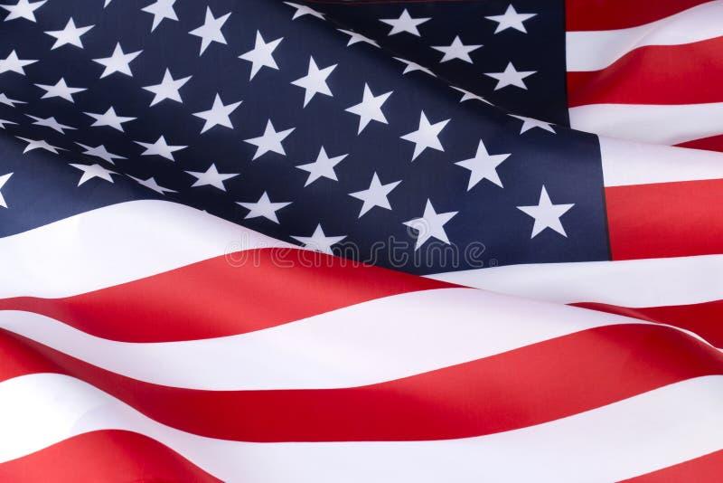 Fine Stella-e-a strisce della bandiera americana su immagine stock