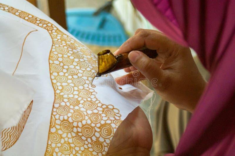 Fine su di progettazione del batik fatta con la cera fotografia stock