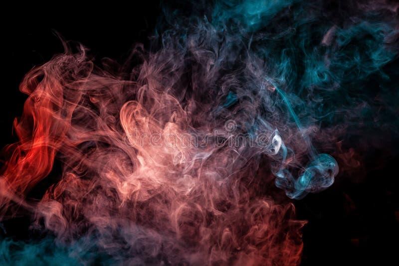 Fine su fumo di turbine su fondo isolato nero illustrazione vettoriale