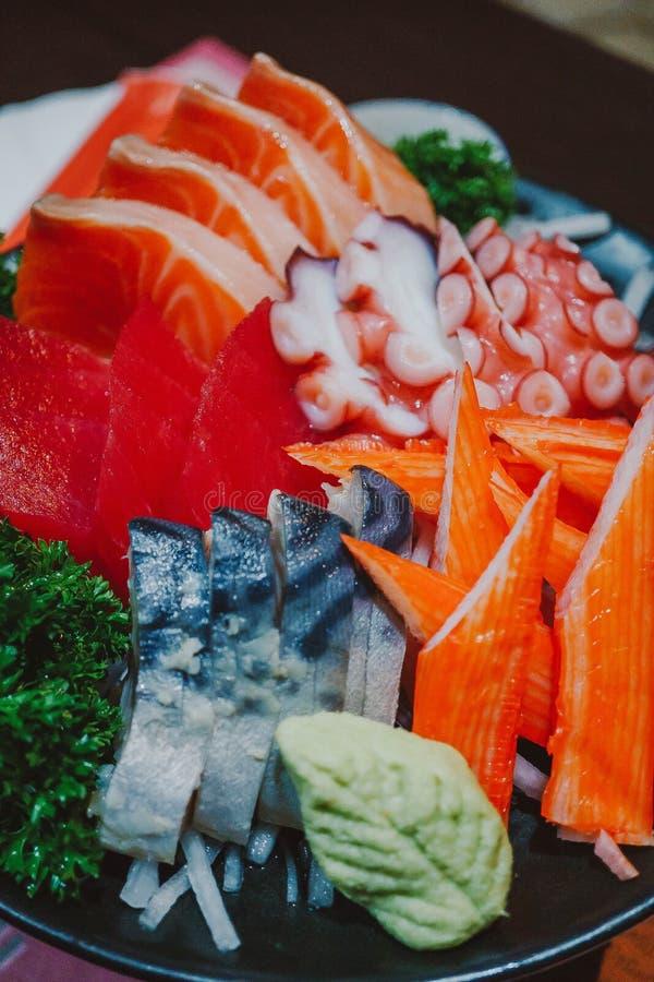 Fine sul sashimi misto fotografia stock