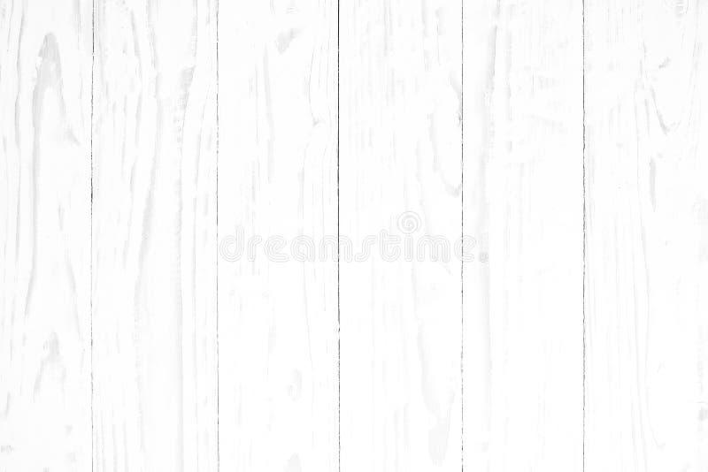 Fine superiore del fondo del piano d'appoggio di struttura del pavimento di legno pulito di legno bianco del fondo su immagini stock
