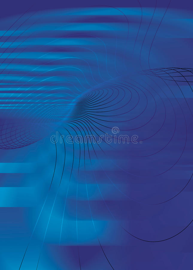 Swirling lines Blues background stock illustration