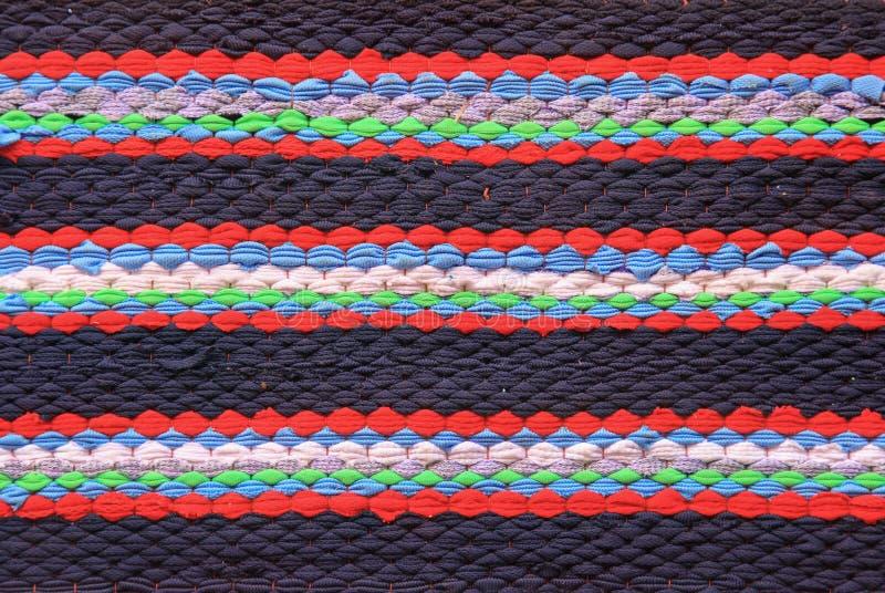 Fine tricottata variopinta di riutilizzazione del panno fotografia stock libera da diritti
