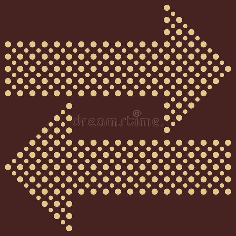 Fine Vector Dotted Arrows stock illustration