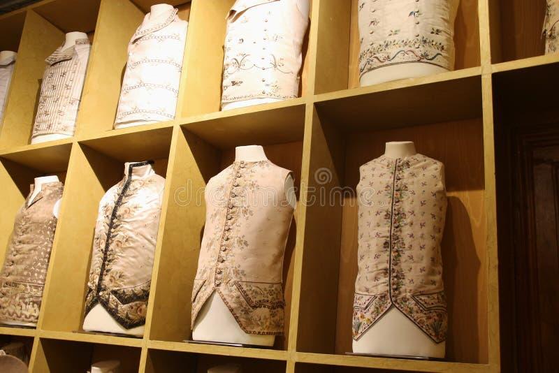 Fine waistcoats for aristocrats in Venice, Italy. royalty free stock photos