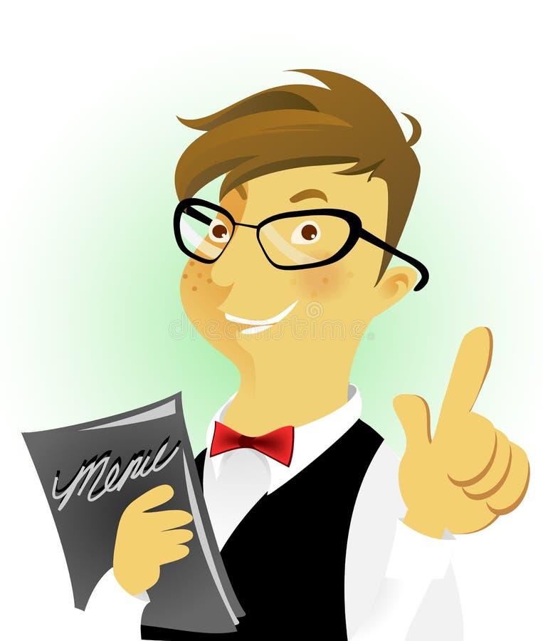 Download Fine waiters stock vector. Image of food, gentleman, butler - 10563422