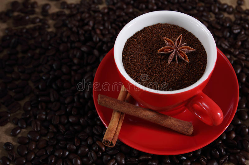 Finely Ground Coffee. stock image