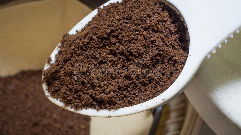 Finely ground coffee stock photos