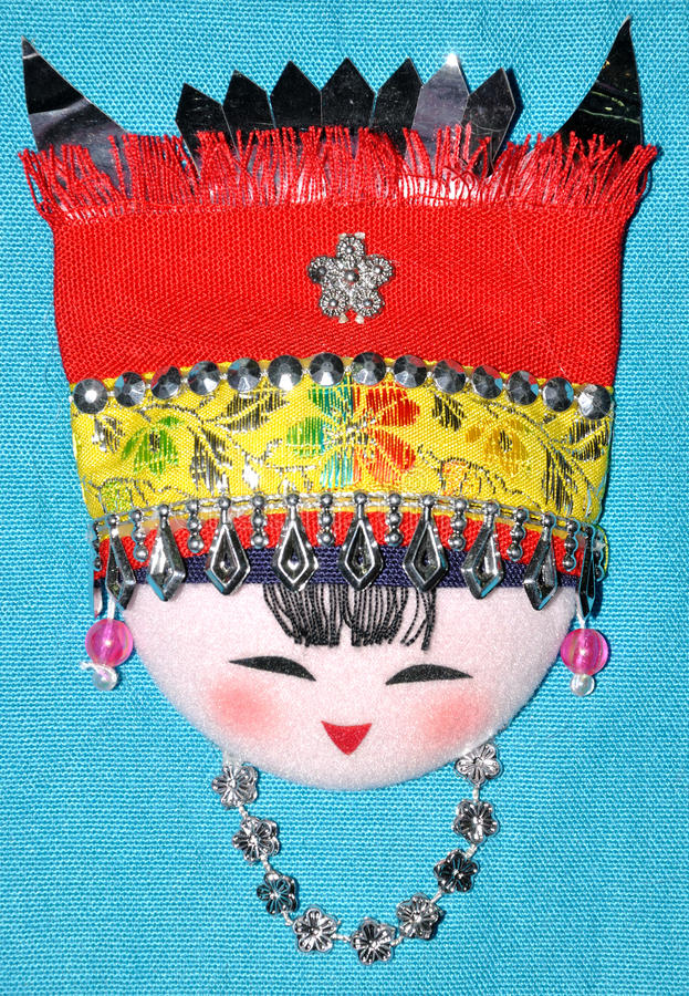 Download Finery Embroidery Of Chinese Minority Traditional Stock Photo - Image: 14390146