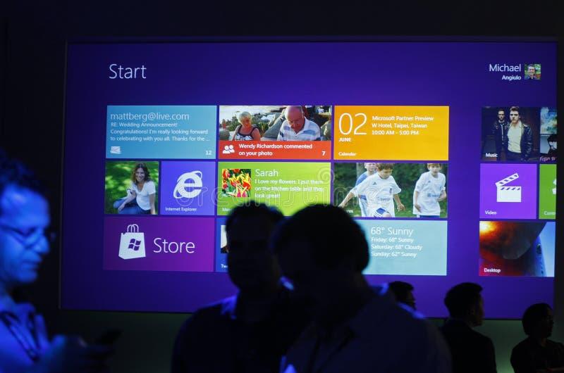 Finestra 8 di previsioni di Microsoft fotografie stock